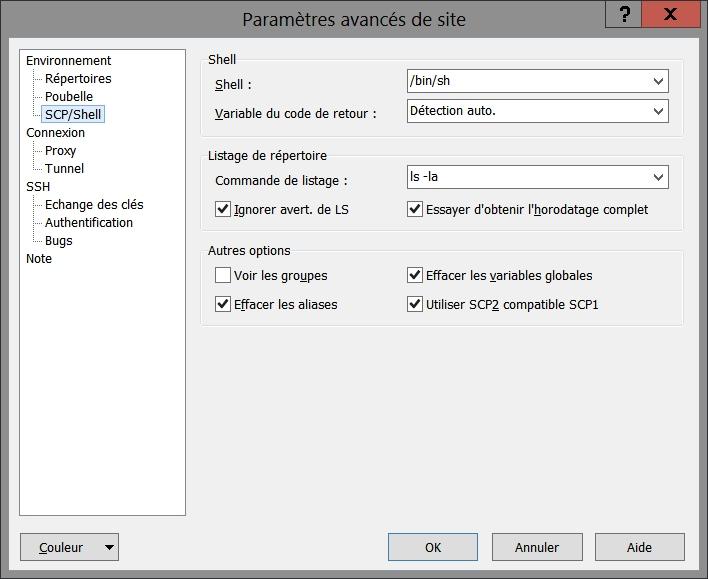 Problème SCP dans WinSCP avec OpenSSH pour Windows