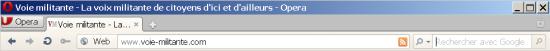 La barre de navigation de Opera 11.51