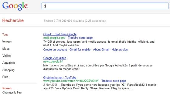 G comme Google !