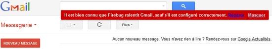 Il est bien connu que Gmail est lent !