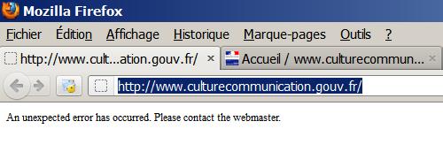 Le nouveau site du ministère de la Culture et de la Communication