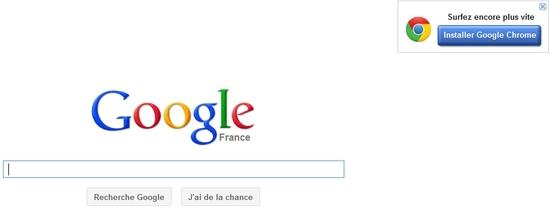 Quand Google fait de la retape pour son navigateur Chrome ?