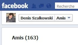 Le nombre de mes amis sur Facebook