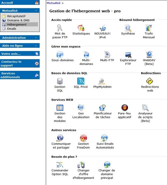 Activer IPv6 sur les hébergements mutualisés d'OVH
