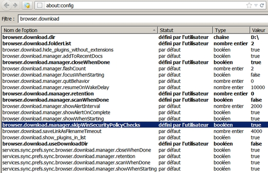 about:config -> browser.download.skipWinSecurityPolicyChecks