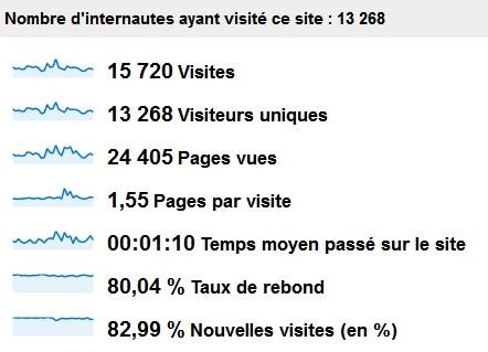 Données Google Analytics Dsfc.net Février 2012