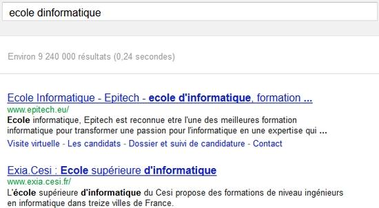 Recherche Google Sur Ecole dinformatique