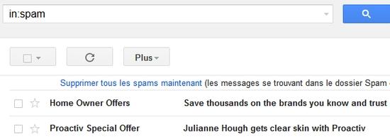 L'antispam dans Gmail !
