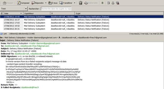 La messagerie Free bloque les spams venus de Gmail !