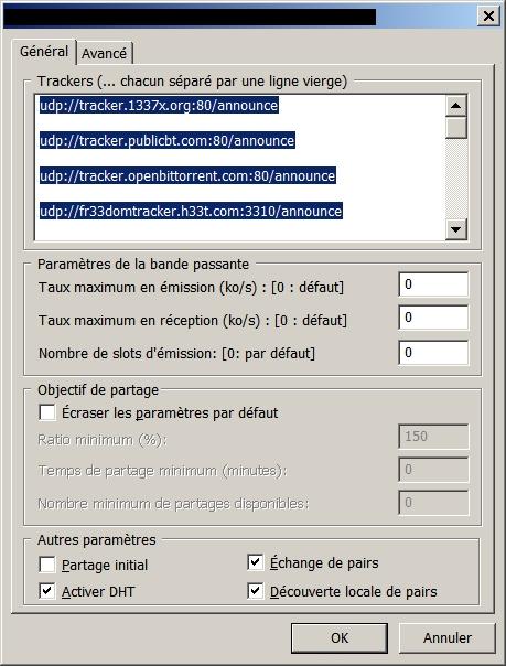 Ajouter un tracker dans µTorrent !