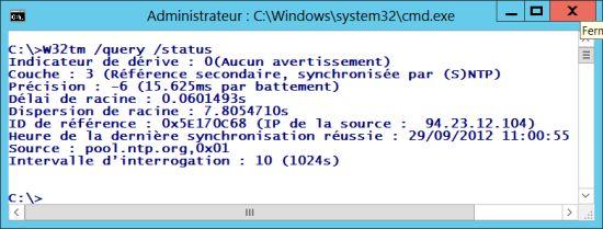 Contrôler la dernière synchronisation sous Windows avec le(s) serveur(s) de temps