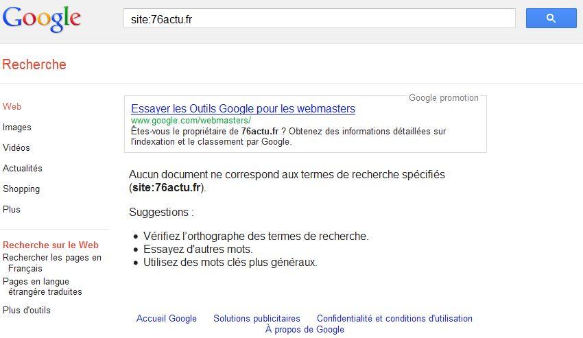 Autopromotion de Google sur ses outils pour Webmasters