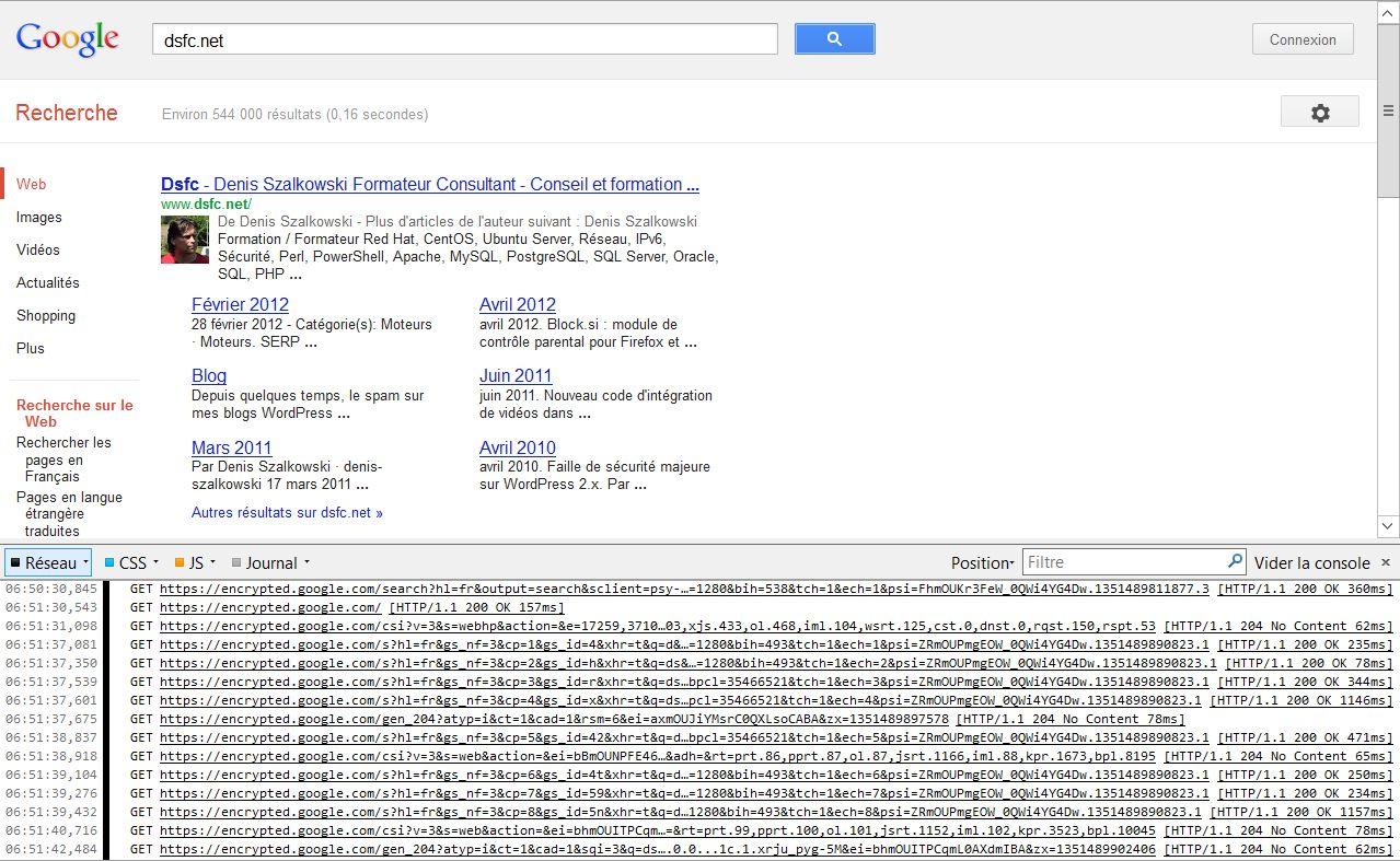 Console Web sous Firefox 16, AdBlock Plus désactivé
