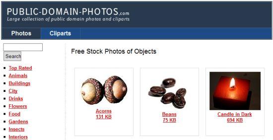 Recherche d'images sur Public-domain-photos.com