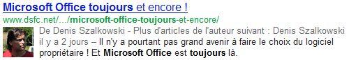 Microsoft Office toujours et encore