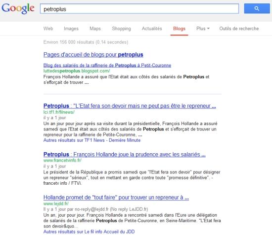 Selon Google, les journaux pourraient être des blogs !