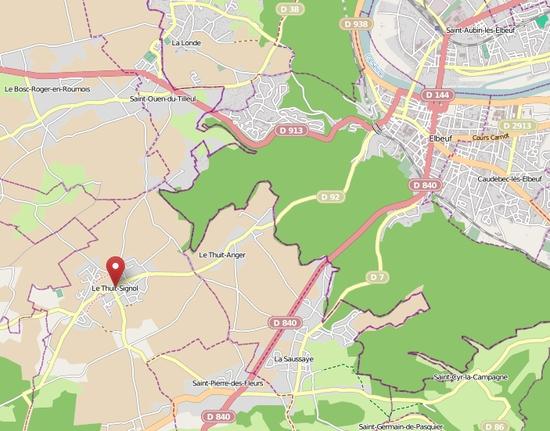 Le Thuit-Signol sur OpenStreetMap