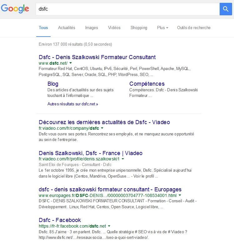 Recherche sur Dsfc dans www.google.fr