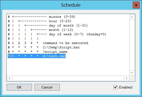 Cron Script Manager
