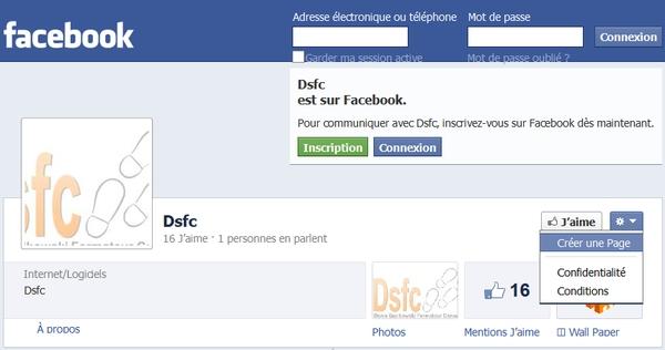 Id d'une page fan Facebook à partir de l'élément de menu Créer une page