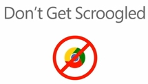 Google Chrome : don't get scroogled !