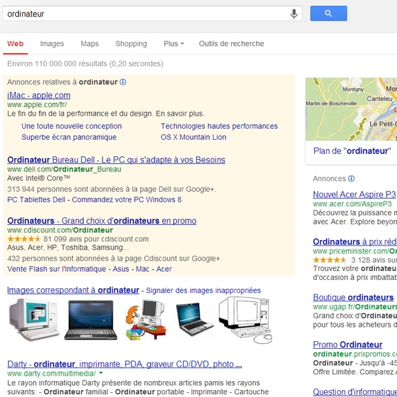Les adwords captent le trafic !