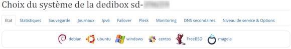 Et toujours pas de Fedora sur Dedibox !