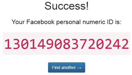 Your Facebook Personnal Numeric ID