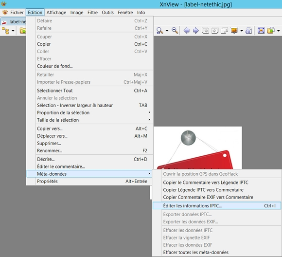 Editer les méta-données IPTC des images sous XnView