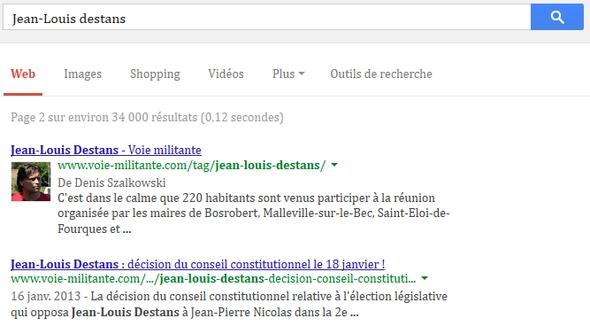 La recherche sur Jean-Louis Destans