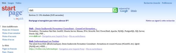 Recherche Dsfc sur Startpage