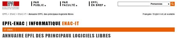 Un nouvel annuaire sur le logiciel libre signé de l'EPFL-ENAC