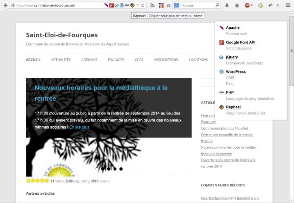 Connaître les technologies utilisées par un site Web