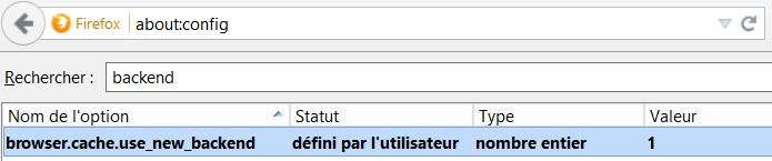 La nouvelle version du cache de Firefox, bien plus véloce !