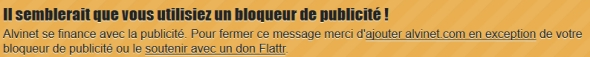 Message totalement inutile !