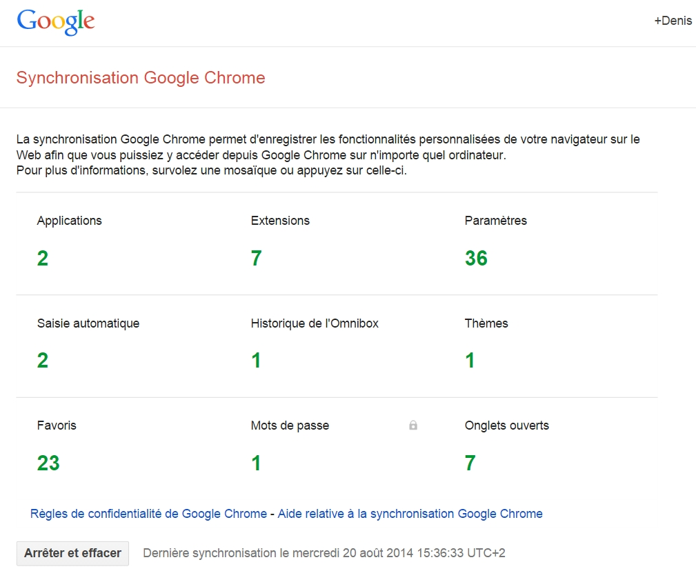 Synchronisation Google Chrome : tiens, là, il ne s'agit plus de Chromium !
