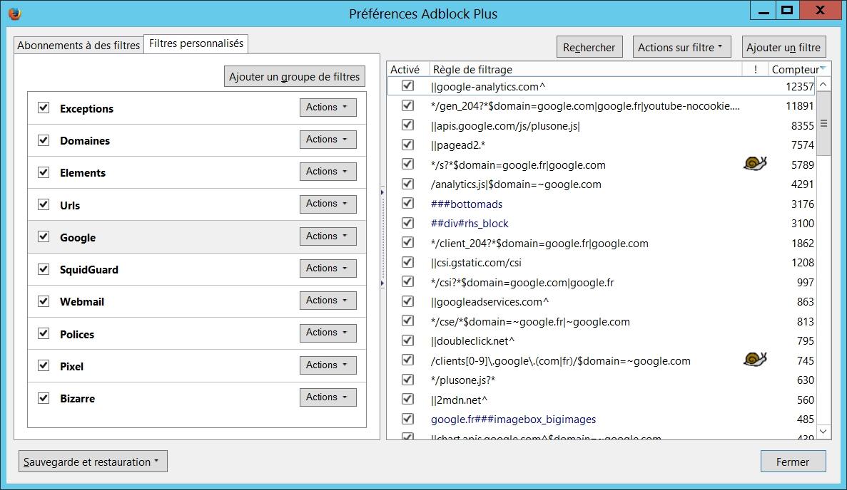 Liste AdBlock Plus créée par Dsfc