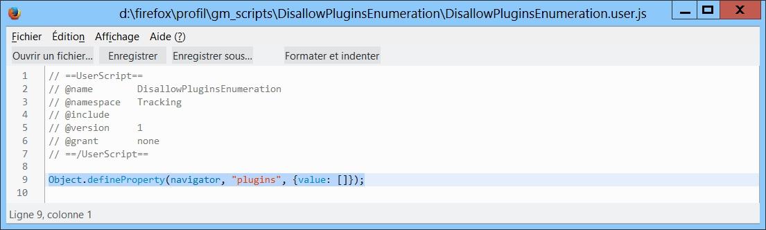 Fingerprinting : minimiser la prise d'empreintes dans Firefox