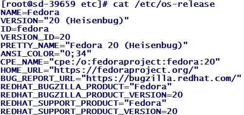 Informations de version et de distribution Linux