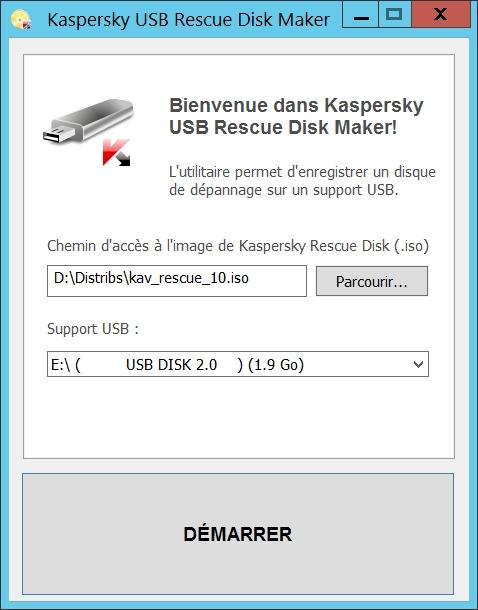 Kaspersky USB Rescue Disk Maker