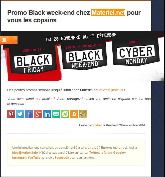 """Le mot """"Publicité"""" n'apparaît pas sur le site Korben.info initialement !"""
