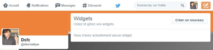 Créer un widget Twitter