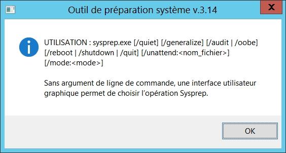 sysprep, avant le clonage de votre machine Windows