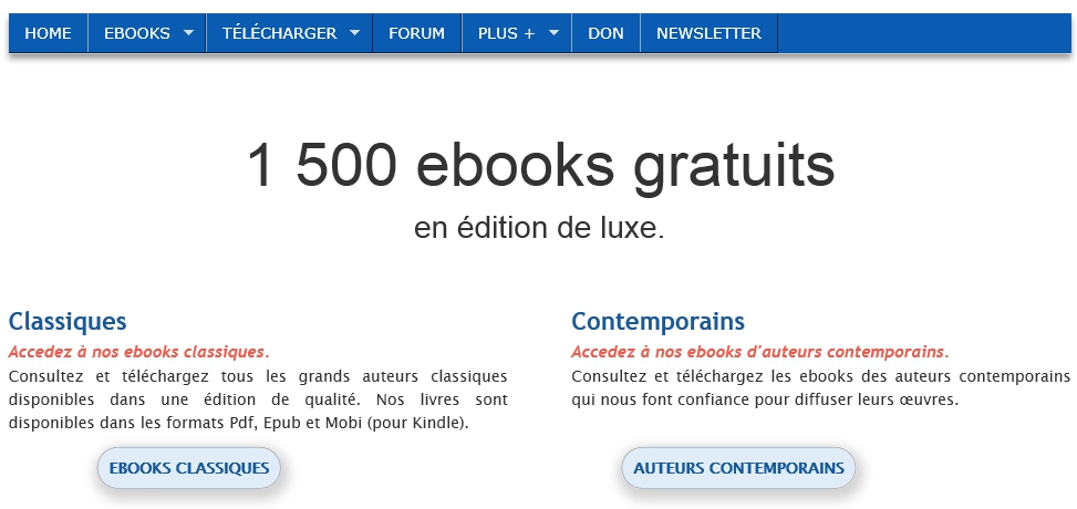 Bibebook, des ebooks gratuits