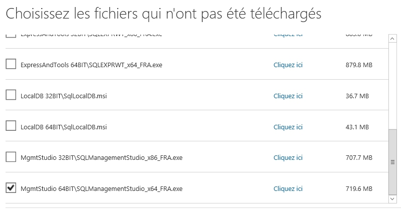 SQL Server : télécharger SSMS 2014