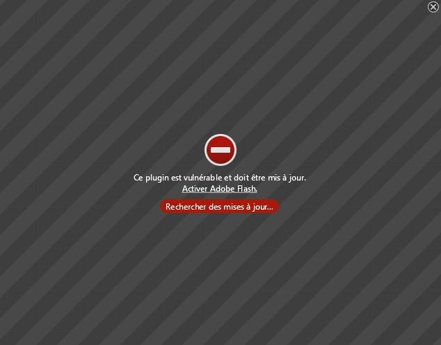 Adoble Flash Player : ce plugin est vulnérable et doit être mis à jour !