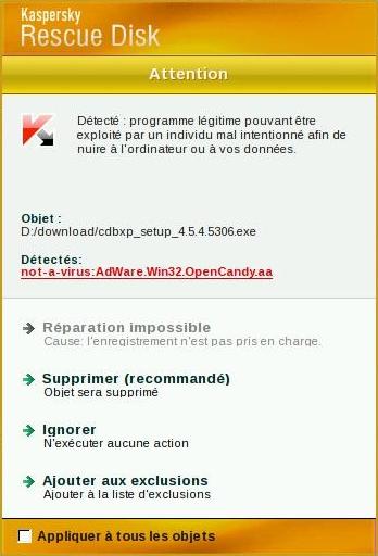 Un AdWare dans l'installeur de CDBurnerXP, selon Kaspersky