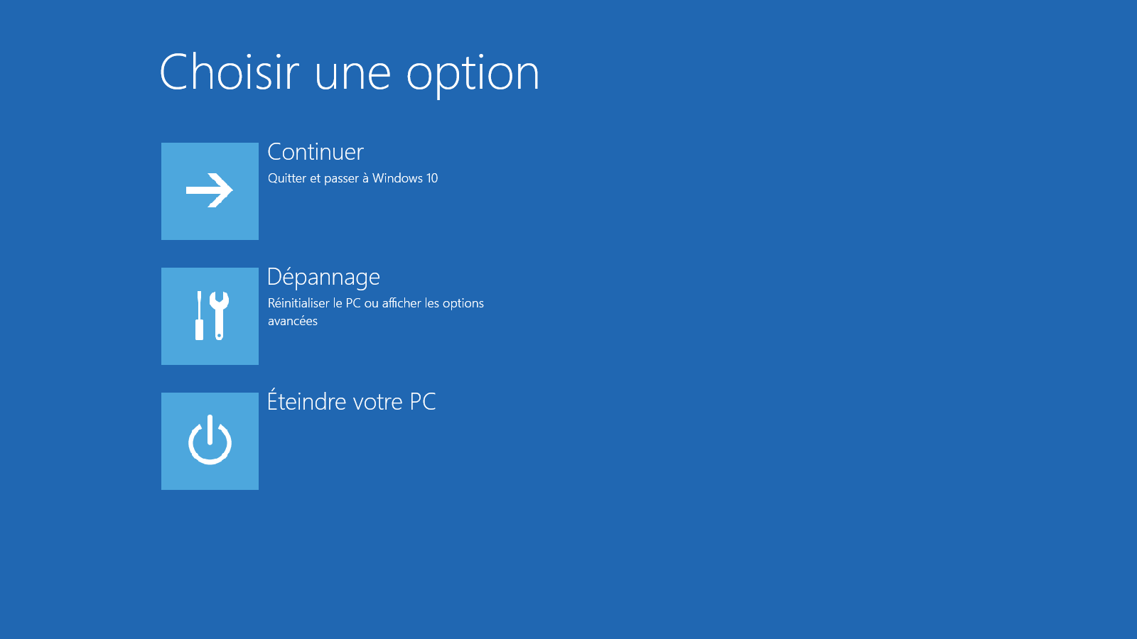 Démarrer Windows 10 en mode sans échec - Etape 2