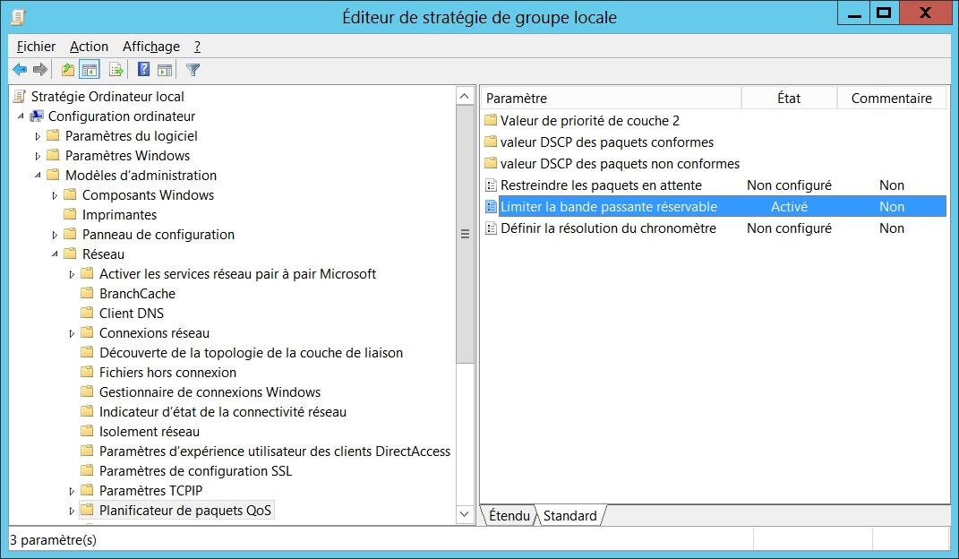 gpedit.msc : Configuration ordinateur -> Modèles d'administration -> Réseau