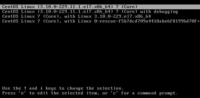 Réinitialiser le mot de passe root sous CentOS / Red Hat 7